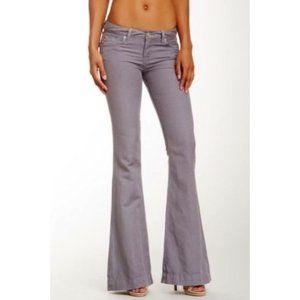 NWT HUDSON FERRIS FLARE linen jeans 27 gray